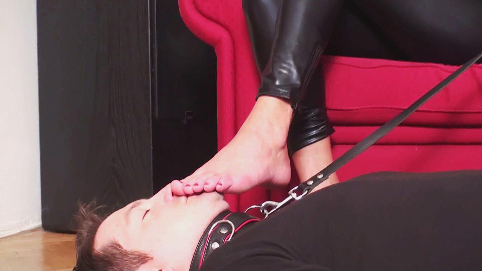 Slaves licking feet