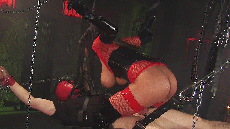 Black leather dominatrix