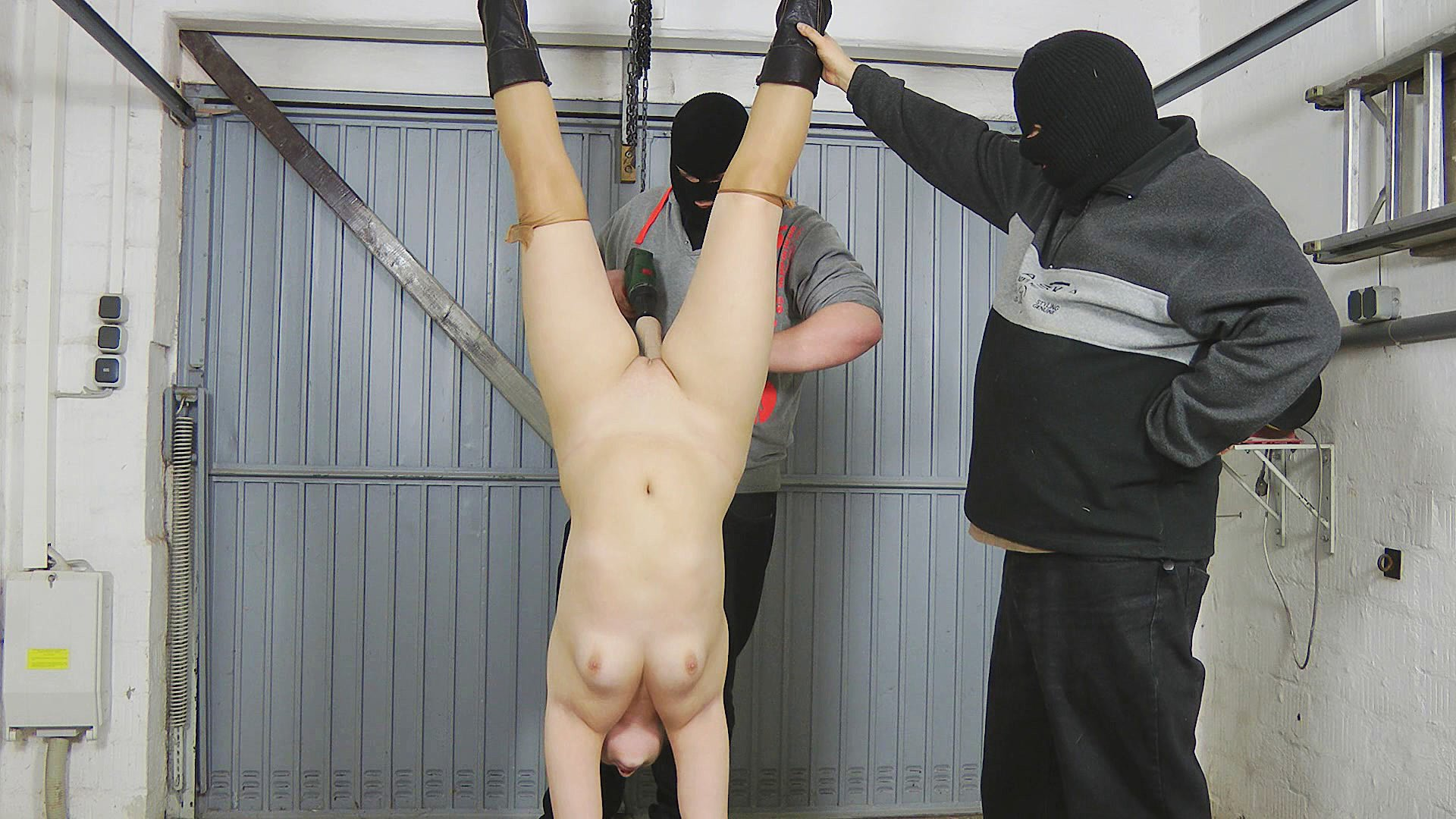 Sex hanging upside down