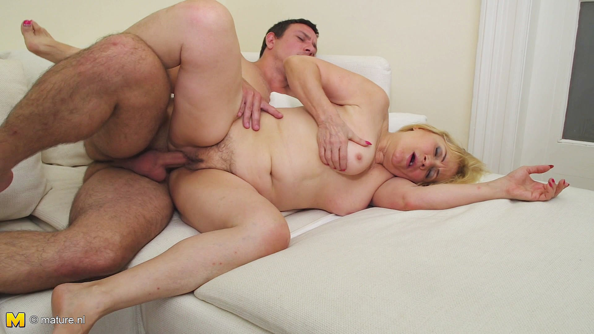 and Busty stud mature
